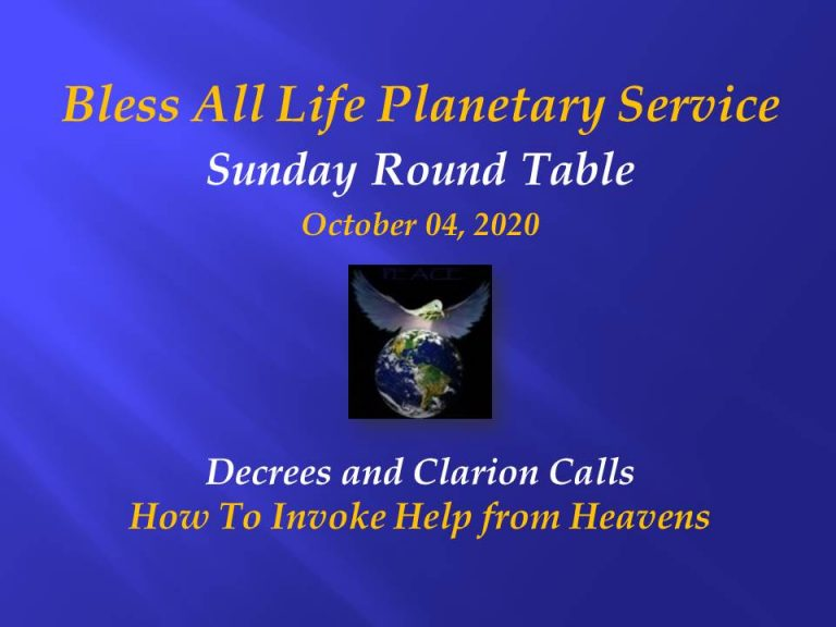 How to Invoke Help From the Heavens ~ Decrees & Clarion Calls: Oct 4th 2020